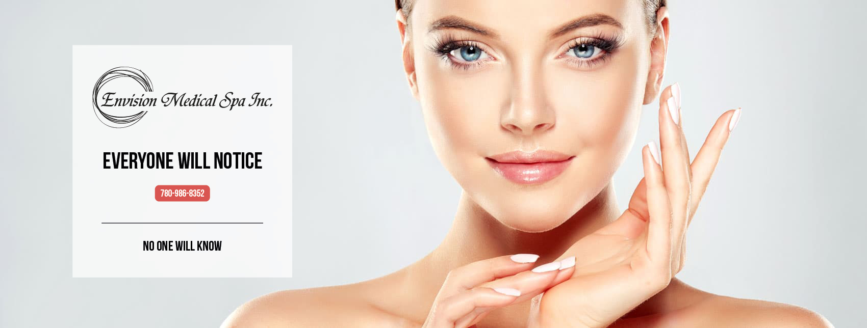 A blemish-free face like this can be a reality with safe, effective therapies from Envision Medical Spa.